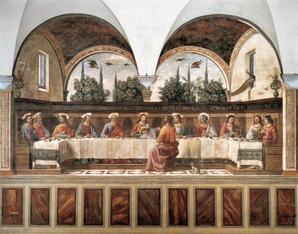 Ghirlandaio, Ultima cena, refettorio di San Marco, Firenze