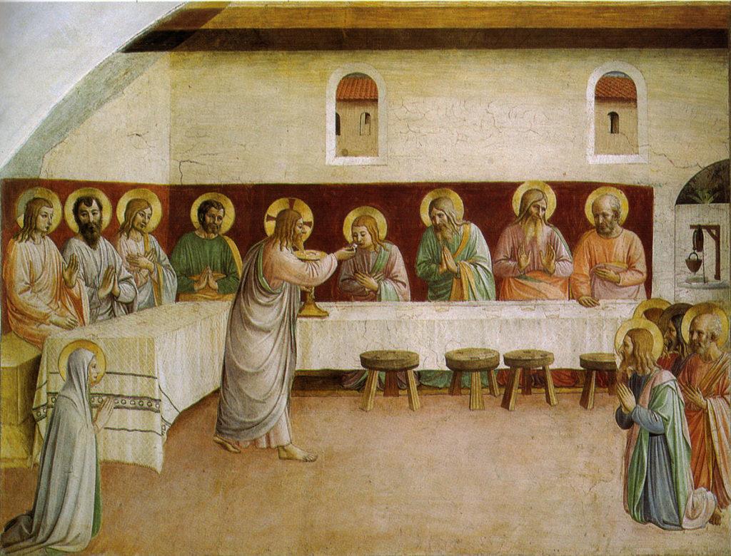 Beato Angelico, Comunione degli apostoli, convento di San Marco, Firenze