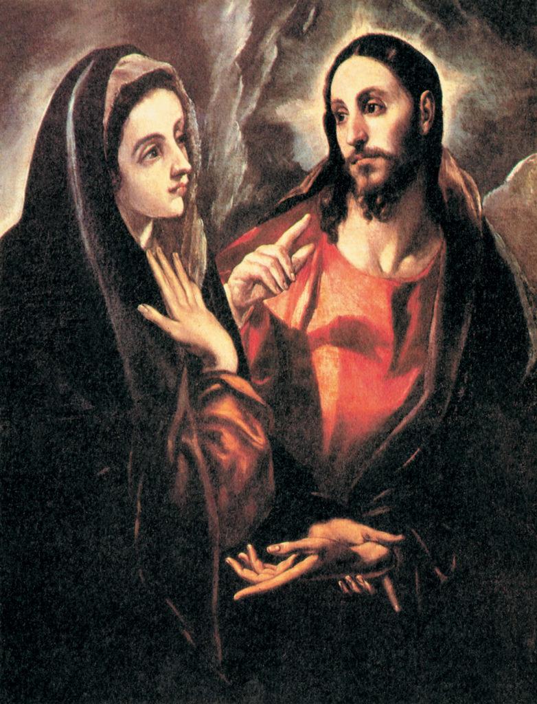 Immagine: Cristo risorto appare a Maria, di El Greco