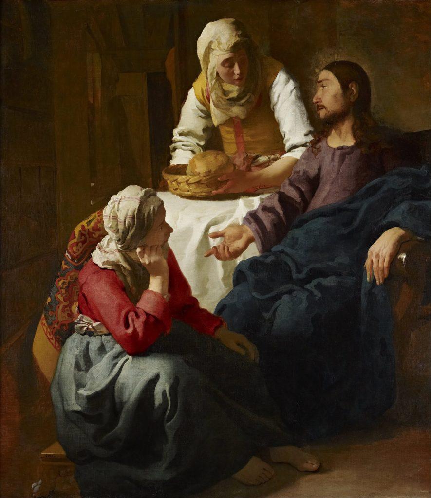 johannes vermeer gesù nella casa di marta e maria