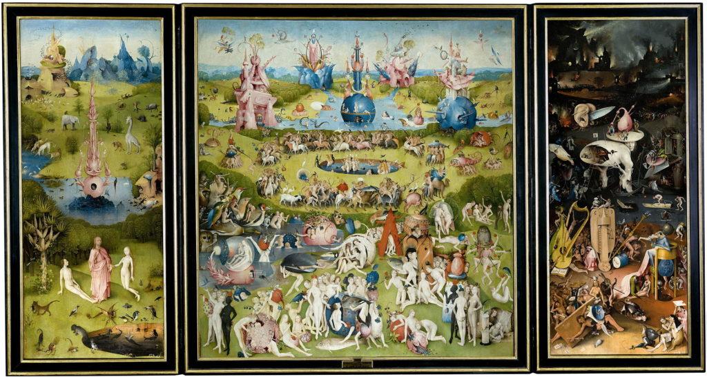 trittico del giardino delle letizie di Bosch