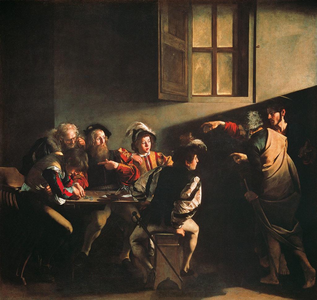 dipinto Caravaggio vocazione San MAtteo