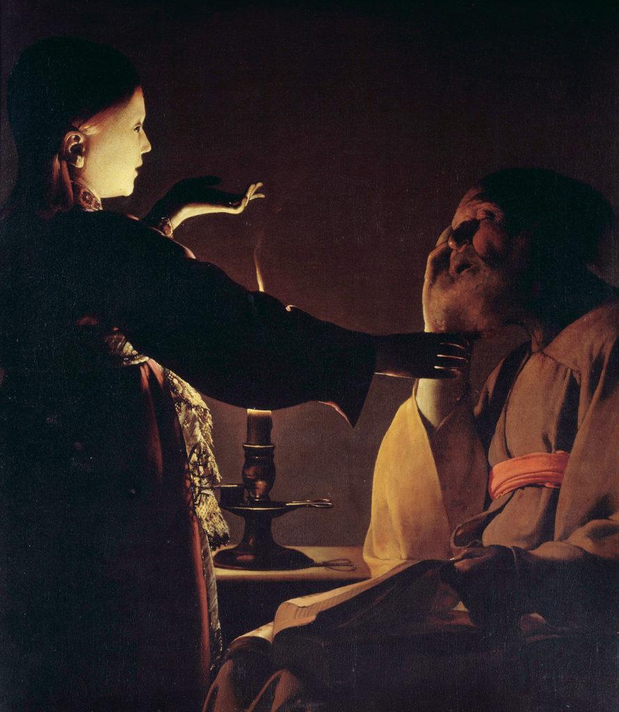 dipinto san giuseppe e l'angelo